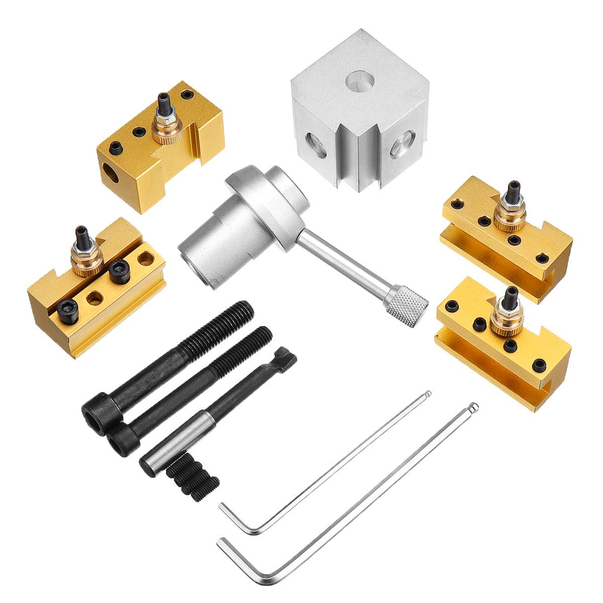 Quick Change Post Holder Kit Set Tool Holder Boring Bar Turning Tool Holder For CNC Mini Lathe