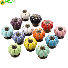 Pumpkin Knob Drawer Pulls Handle Colorful Cupboard Knobs Kitchen Cabinet Furniture Hardware