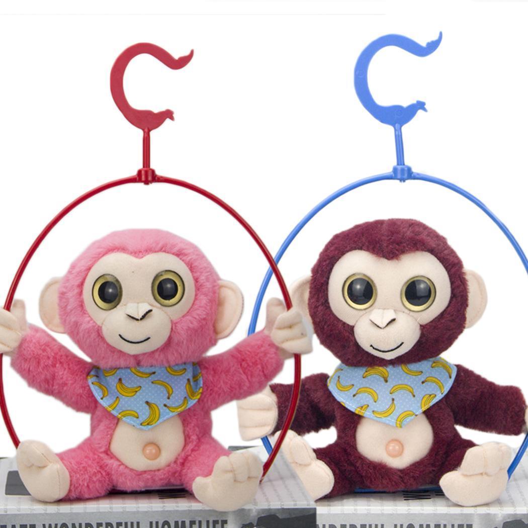 Cartoon Electronic Recording Toys Plush Talking Monkey Doll Interactive Toys Soft Birthday Gift Mimicry Pet Talking Cute Kawaii