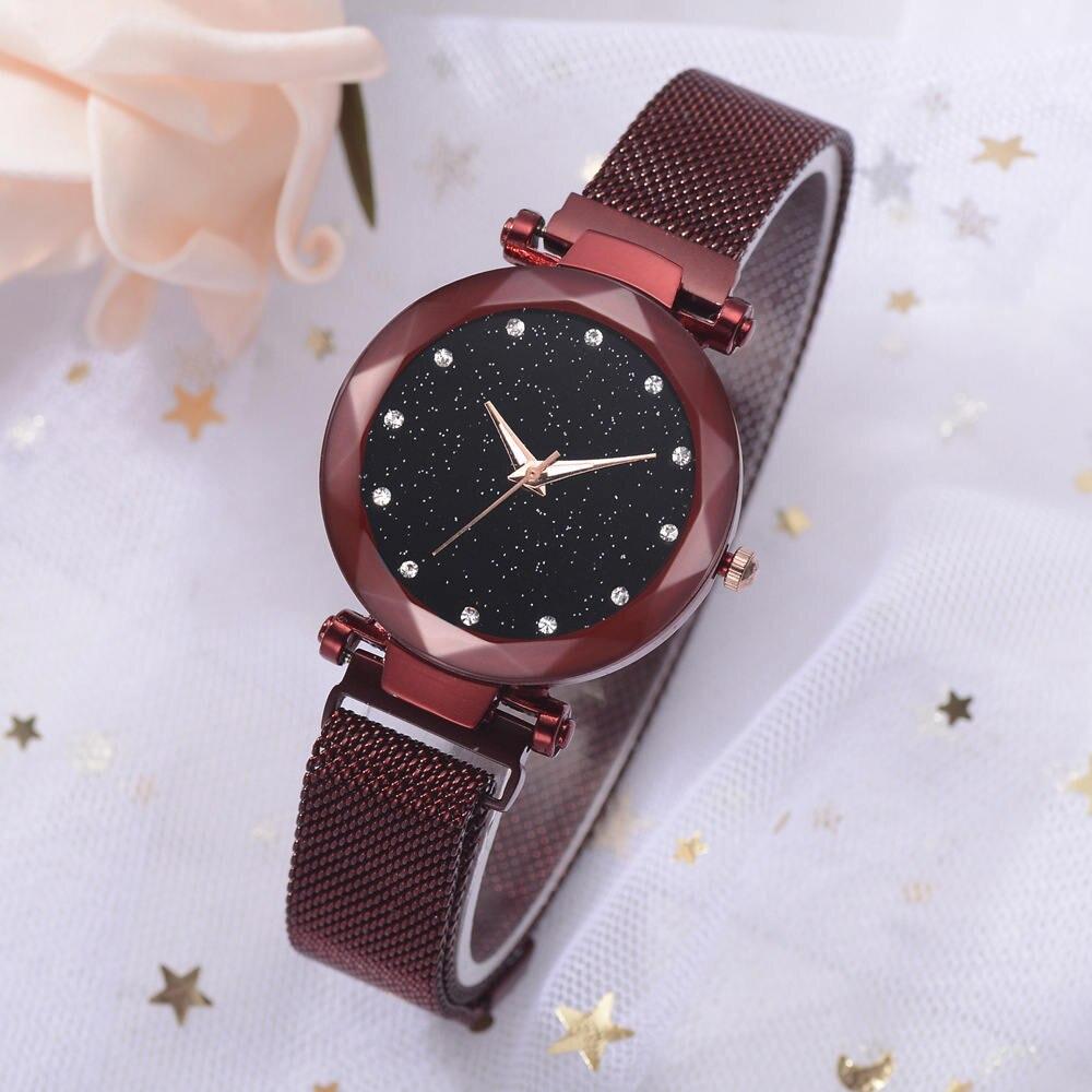 Delicate Simple Trend Starry Night Ladies Quartz Watch Magnet Watch Strap Magnet Watchband Watch Ladies Watch Holiday Gift