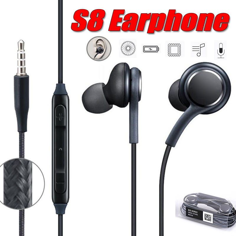 High Quality In-Ear with Microphone Wire Headset for Samsung Galaxy S8 s9 3.5mm Sport Earphones For Smartphone