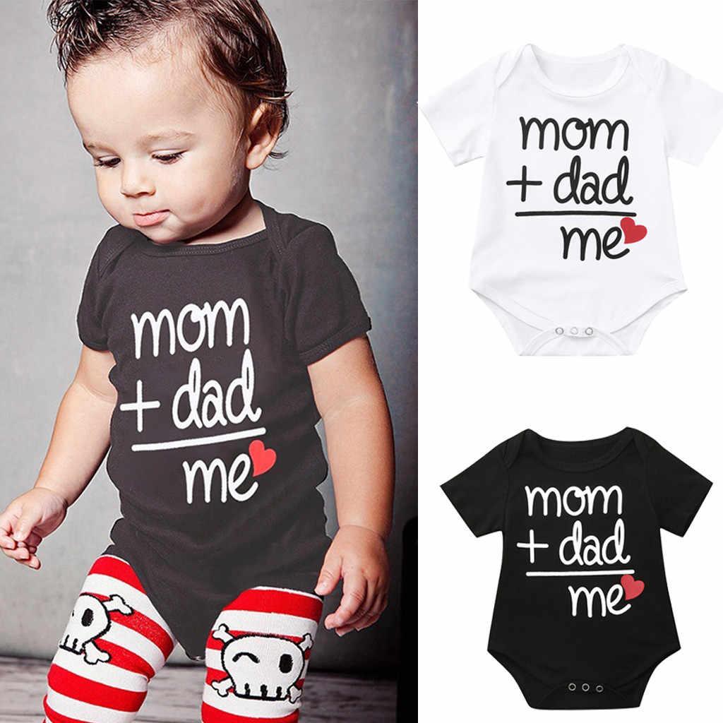 37b153348b9da MUQGEW Toddler Newborn Baby Romper Girls Boys Letter Printed Tops Jumpsuit Romper  Clothes Infant Baby Summer