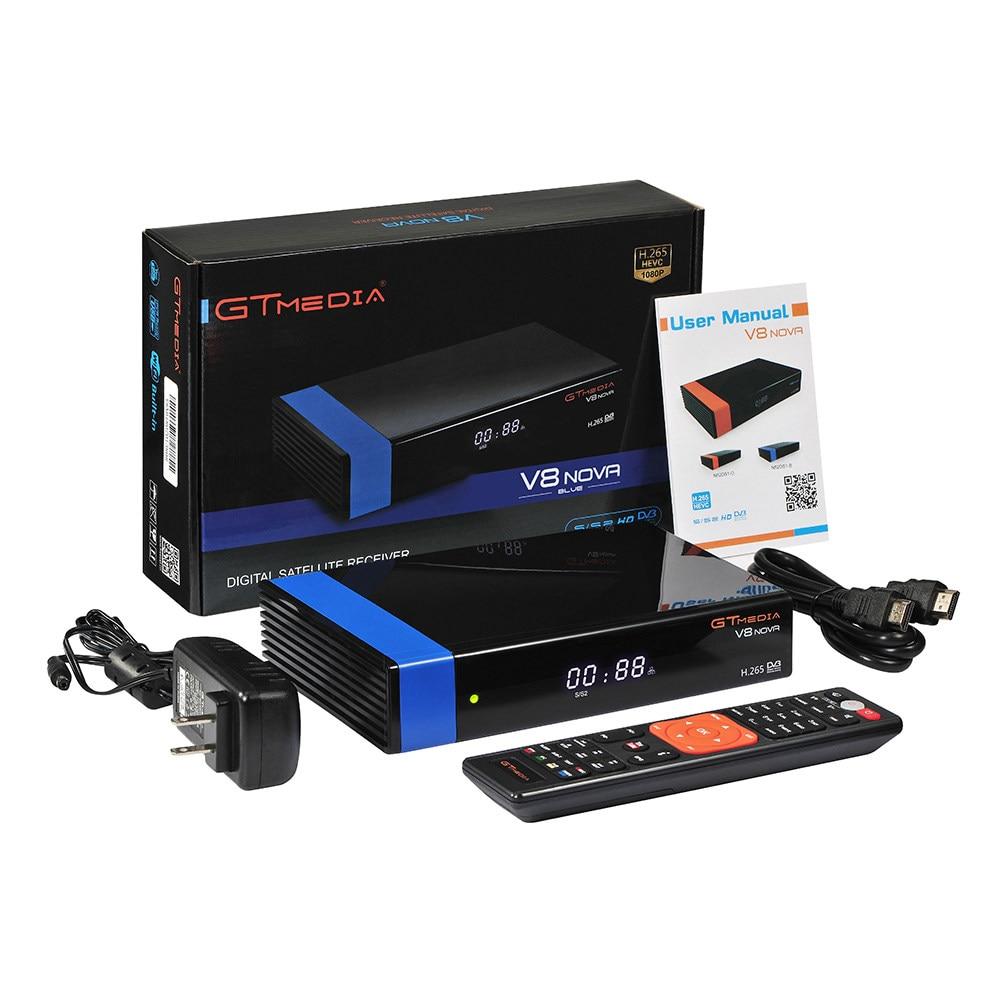 Gtmedia V8 NOVA H.265 DVB S2 récepteur satellite wifi Youtube tv Box mieux freesat V8 super V9 décodeur super Cline décodeur