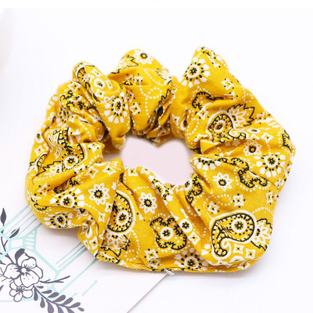 New Fashion Cashew Flowers Hair Ties For Girls Scrunchies Elastic Hair Bands Women Casual Dance Hair Accessories Ponytail Holder