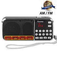 Portable Speakers With Mini AM FM Digital Radio Retro Receiver Speaker Player Micro SD TF USB Charging Earphone Jack Dab Radios