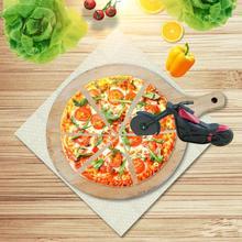Мотоциклетный резак для пиццы, инновационный роликовый инструмент для пиццы, велосипедные ножи для пиццы, кухонные инструменты для резки пиццы из нержавеющей стали