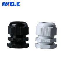 10pcs M30x1.5 Waterproof Cable Gland Black White Ip68 Plastic Connector Nylon Cable Glands Screw Joints For 16-21mm Cable