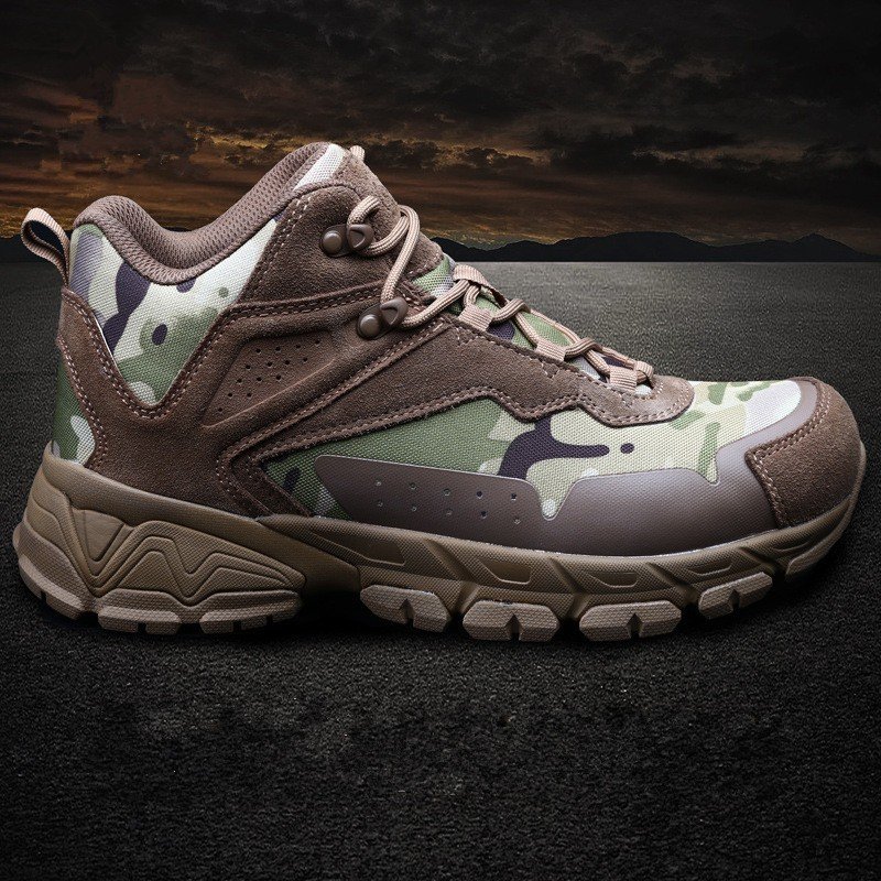 Spring Autumn Camouflage Hiking Shoes Outdoor Military Sports Climbing Lightweight Wearproof Army Training Combat Tactical Boots