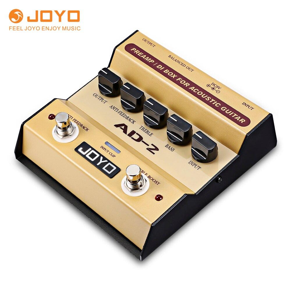 JOYO AD-2 Préampli DI Boîte Guitare Pédale D'effet avec 5 Modes D'ajustement pour Acoustique Guitare Haute-Sensibilité rétroaction Guitare Pédale