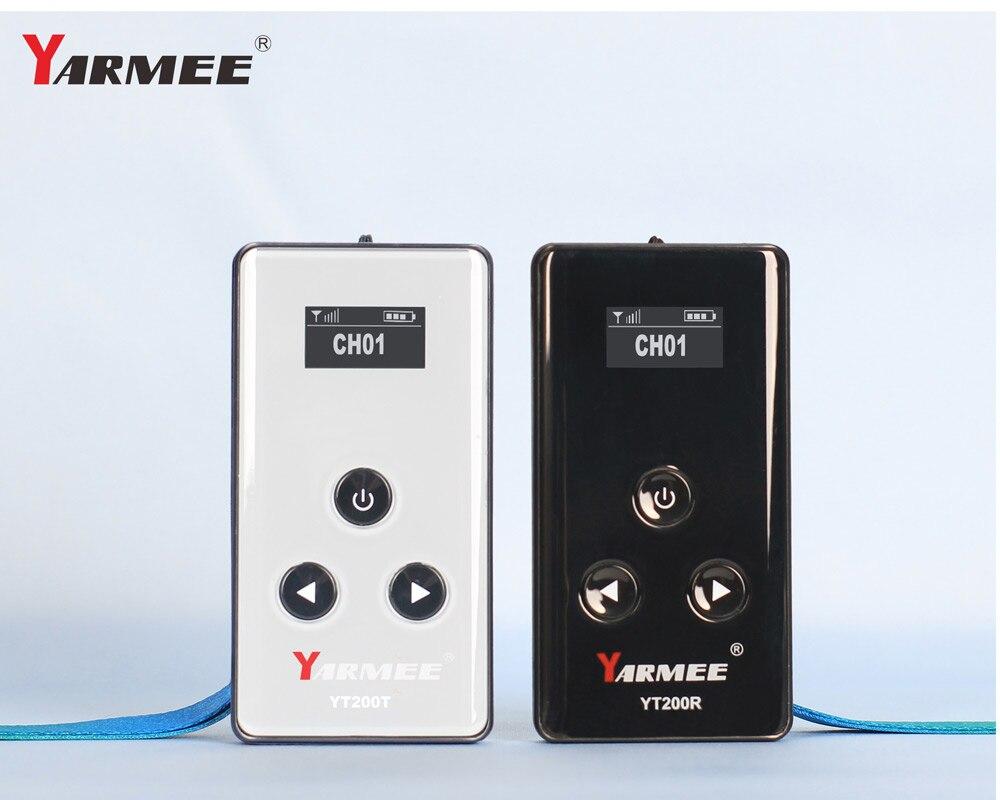VHF Numérique Sans Fil Tour Guide Système Système de Traduction pour Guide Touristique, Musée, Touristique 1 Émetteurs 40 récepteurs YT200