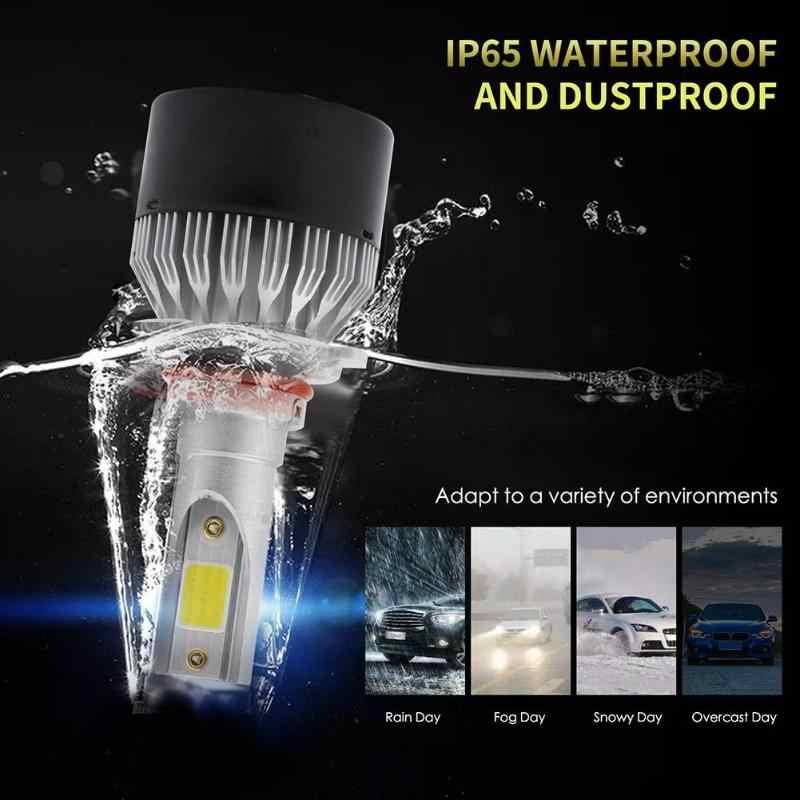 VODOOL Car Accessories 1 Pair EV9 DOB LED Car Headlight Bulbs Car Headlights 60W 6000LM IP65 Waterproof Auto HID Headlamp Bulbs