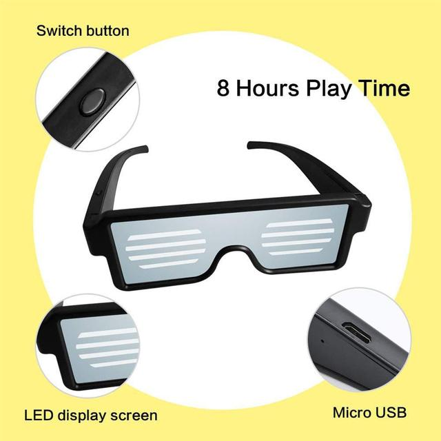 Party Neon LED Glasses