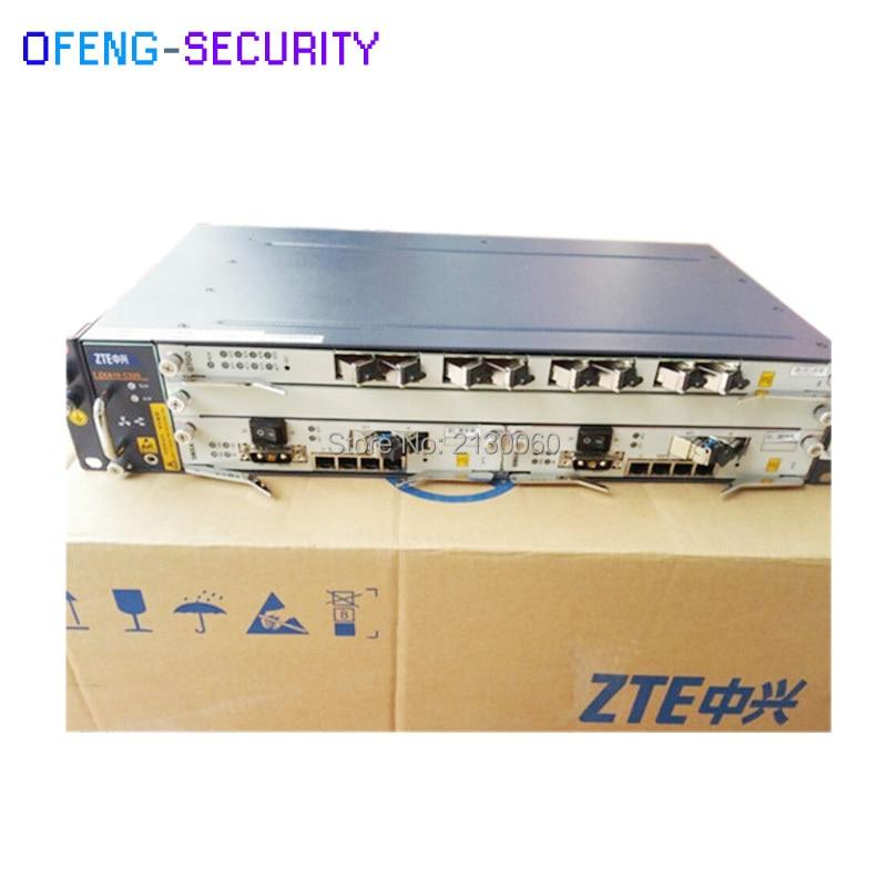 10G ZTE OLT ZXA10 C320 With 2*SMXA/3, 2U Optical Line Terminal Equipment C320 ZTE OLT, DC Power
