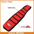 Ребристый резиновый чехол для мотоцикла Pro  красный ребристый захват  мягкий резиновый чехол на сиденье для Honda CR125R CR250R  97-99