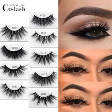 Colash 18mm Long 3D mink lashes extra length eyelashes Big dramatic volumn strip thick false eyelash