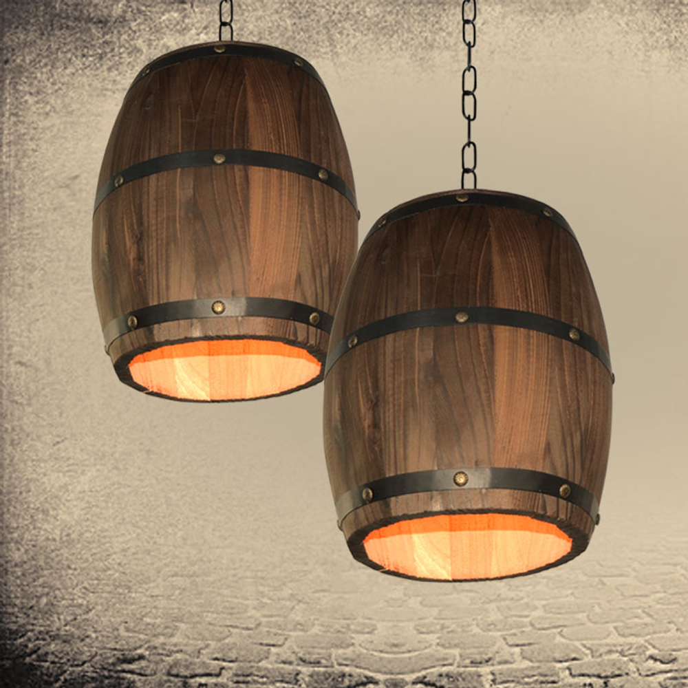 Us 31 57 38 Off Bar Restaurant Cafe Light Creative Retro Distinctive Wood Wine Barrel Hanging Fixture Ceiling Pendant Decoration Lamp Lighting In