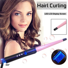 65W 110V-240V Hair Curling Iron Tong Styler Professional Cer