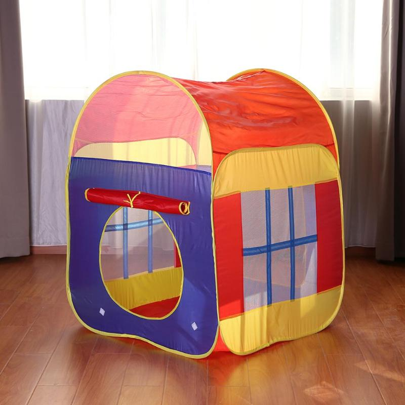 Summer Play Tent Toys Foldable Ocean Ball Pool Game House Inflatable Tent Portable Pool Foldable Outdoor Sports For Kids Gift