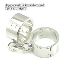New stainless steel Aggravated thick female handcuffs sex products bdsm bondage restraints erotic toys adult for women