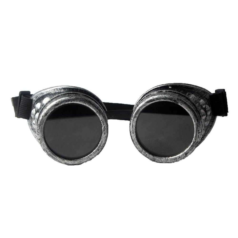 Fantastico E Punk Freddo Casco Occhiali Cornice D'argento Occhiali Da Moto Motocross Occhiali Maschera Formato Libero Unisex Gradevole Al Gusto