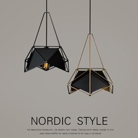 Nordic Creative Simple Black White Gold Chandelier Pendent Lamp Restaurant Table lamp Living Room The study Attic Pendent Lamp L