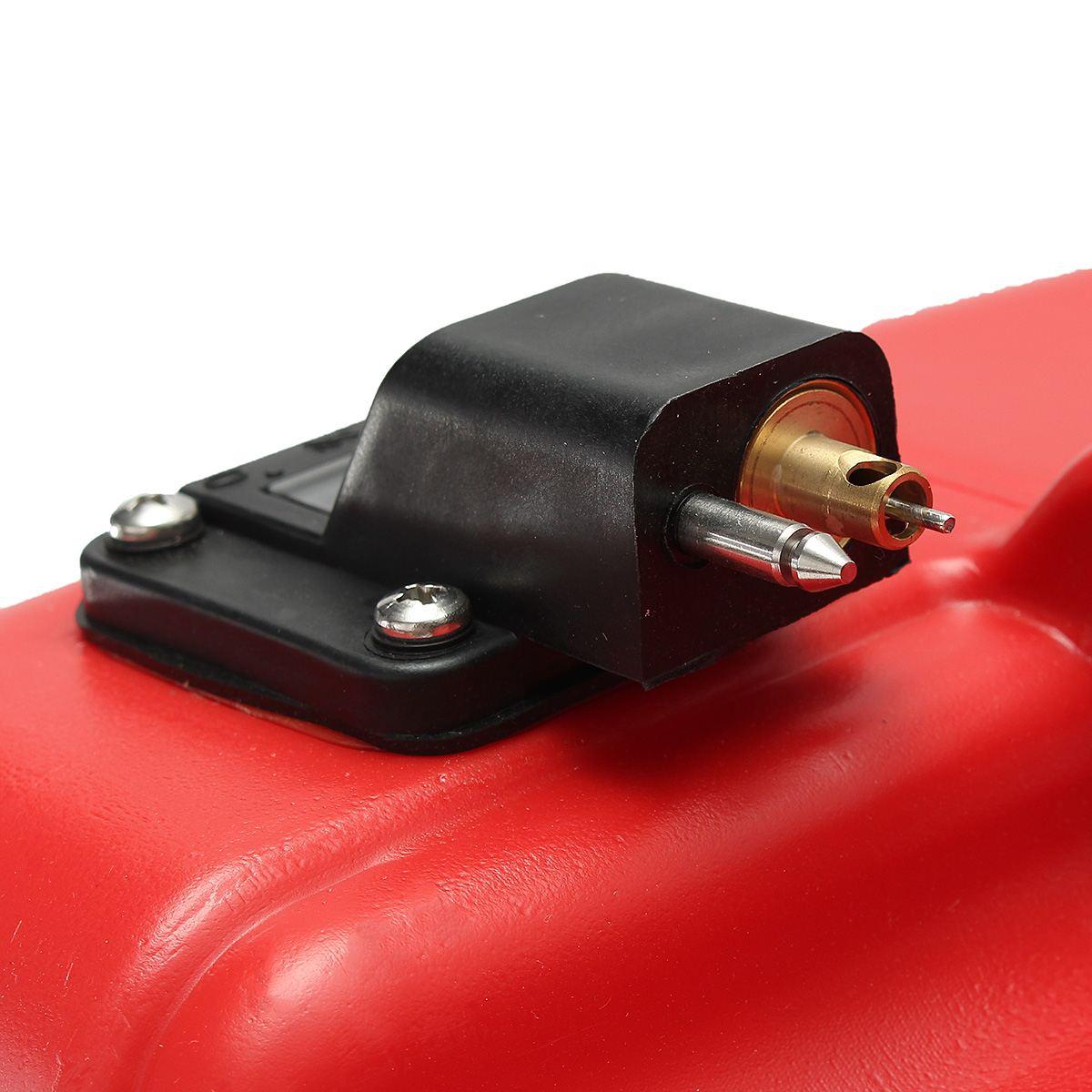 Boîte à huile extérieure Marine de réservoir de carburant de moteur de Yacht de bateau de 12L Portable avec le plastique rouge de connecteur Anti-statique résistant à la Corrosion - 4