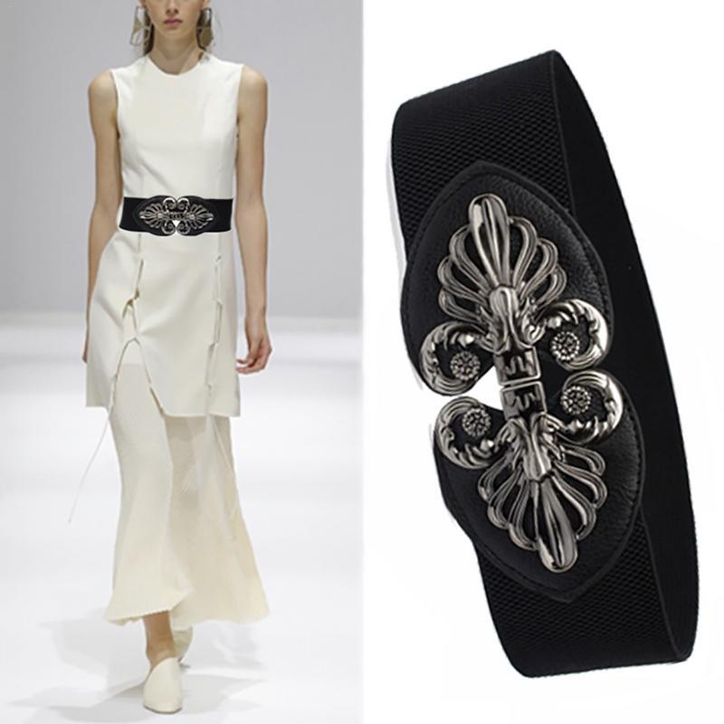 La señorita M nuevo diseño de las mujeres Vintage cinturón vestido de mujer decoración cinturones de moda negro de plata correa de la PU para la fiesta