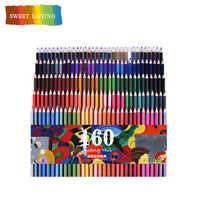 San 120/160 couleurs bois huile crayons de couleur ensemble artiste peinture pour dessin croquis école cadeaux Art Supplie livraison directe