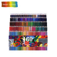 San 120/160 Colors Wood Oil Colored Pencils Set Artist Painting For Drawing Sketch School Gifts Art Supplie Dropshipping