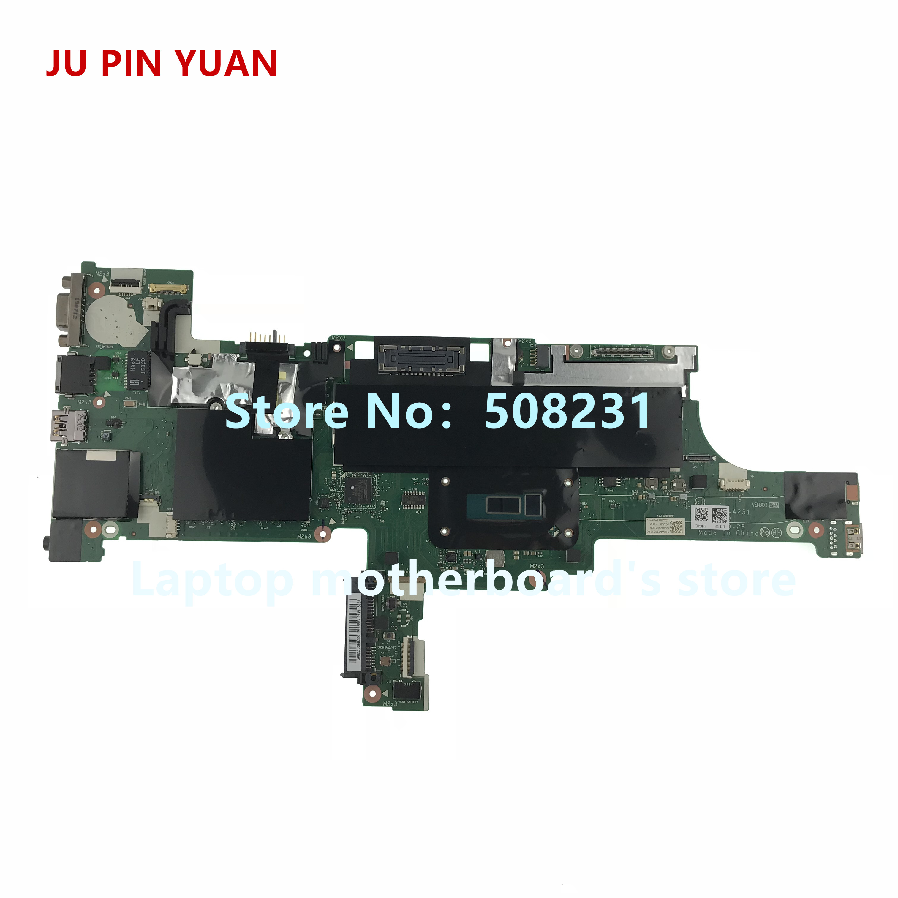 JU PIN YUAN AIVLO NM-A251 mainboard For Lenovo Thinkpad T450 laptop motherboard with <font><b>i7</b></font>-<font><b>5600U</b></font> fully Tested image