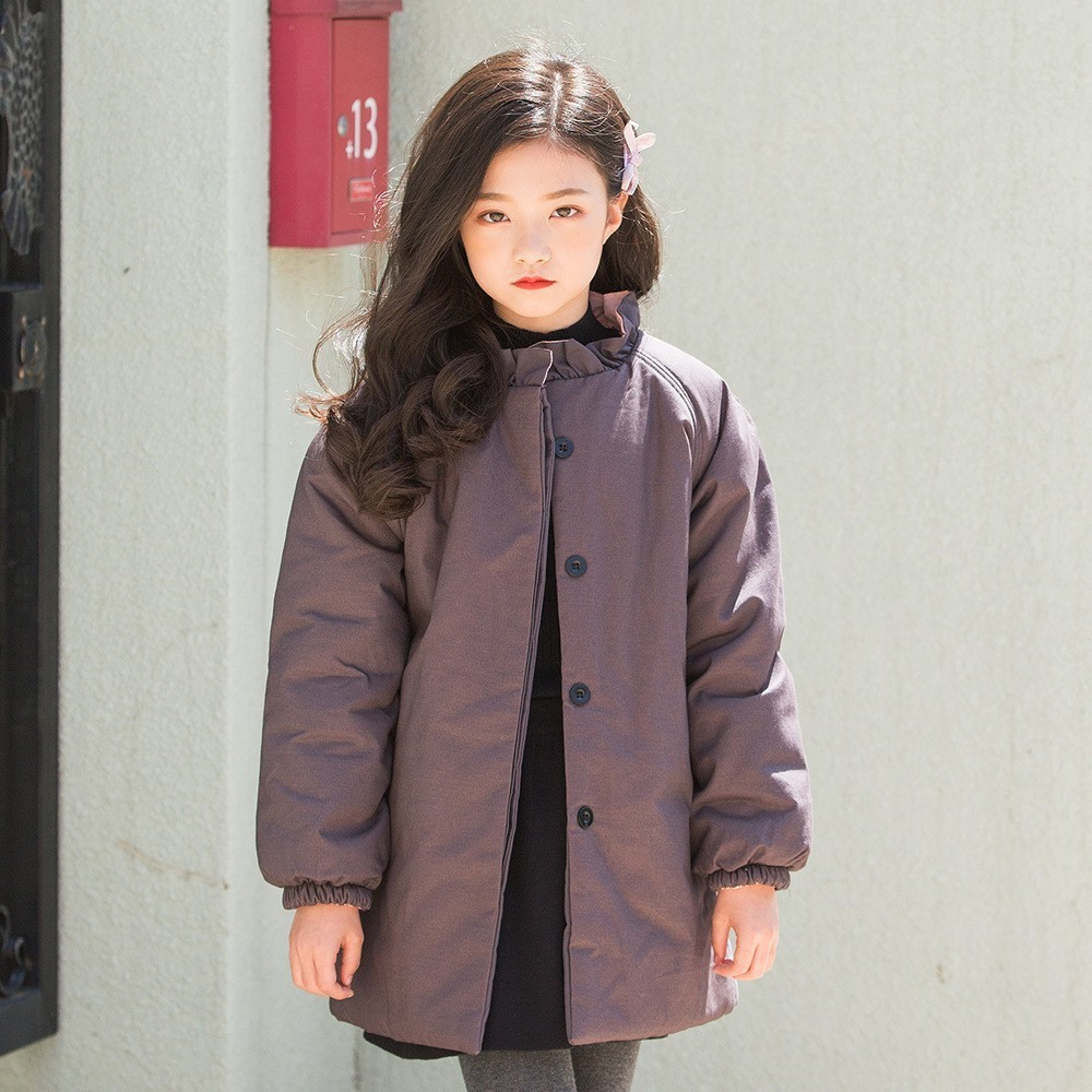 Cotton Padded Warm Winter Coat Girls Jackets 2018 Teen Children Clothes Long Baby Coats For Kids Outerwear Blue Grey Clothing cotton padded warm winter coat girls jackets 2018 teen children clothes long baby coats for kids outerwear blue grey clothing