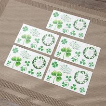 20pcs Creative Waterproof St. Patricks Day Tattoo Sticker 2019 New Style Set Decor Sticker Funny Sticker for Festival Party Club