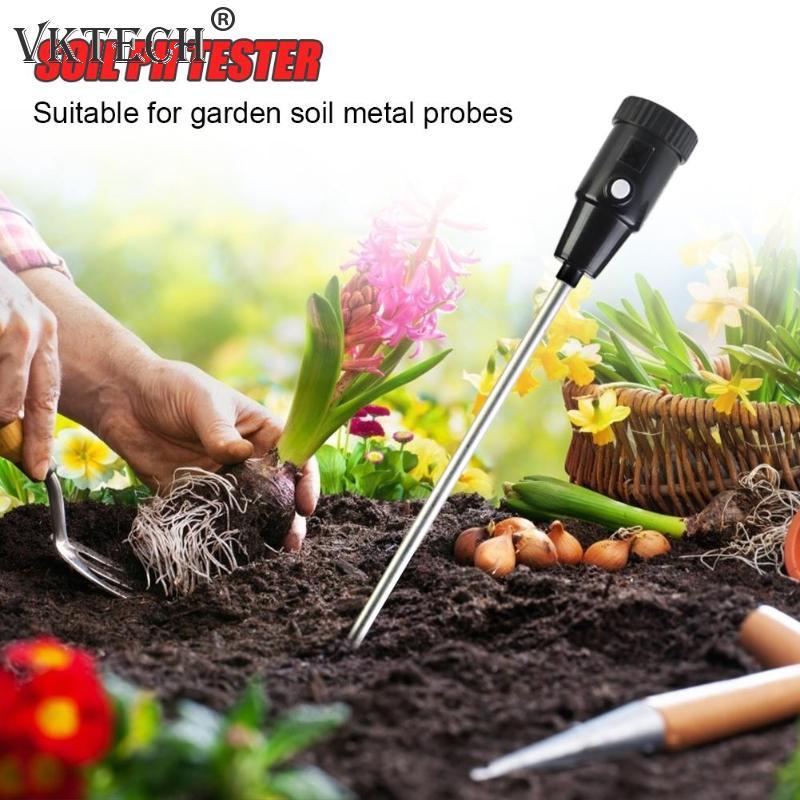 Измеритель влажности PH тестер для сада почвы металлический зонд гигрометр рН метр почвенный монитор влажности садовые инструменты
