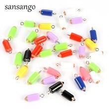 11c29600d5fb 10 piezas de moda lápiz encantos colgante de cuentas para la fabricación de  joyas accesorios DIY pulseras pendientes lindo llave.