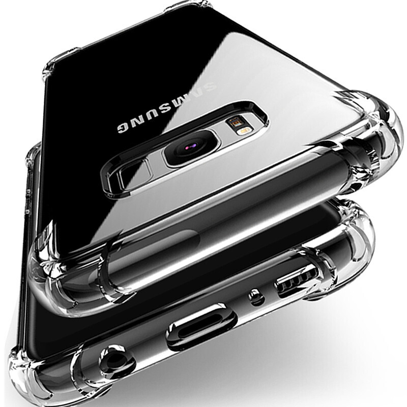 Airbag Transparent Phone Cases For Samsung Note10 Pro A90 A80 A70 A60 A50 A40 Case Soft Cover For Samsung Galaxy S10 Lite S9 S8