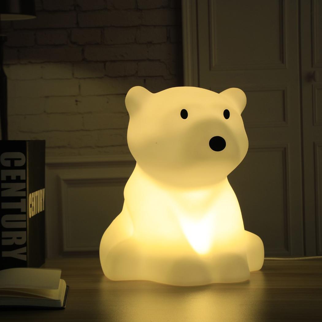 Bambini Luce di Notte del LED Dimmable Del Fumetto Dei Capretti 100 240 V luce Bianca Orso Polare Forma 5 W Lampada Decorativa - 3