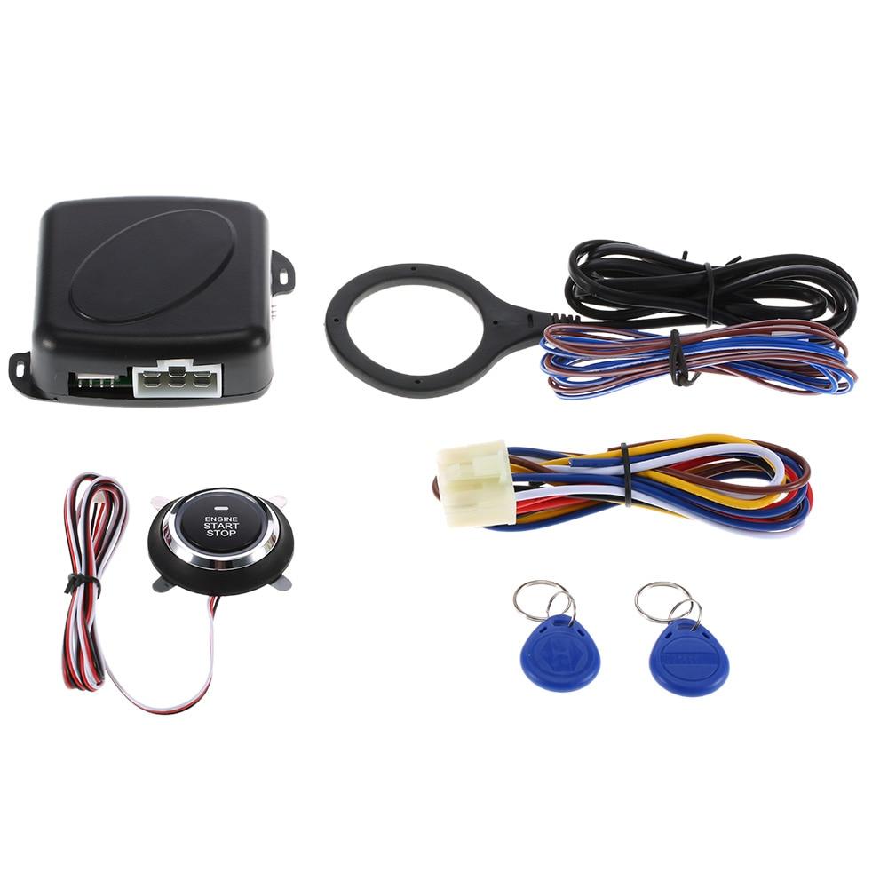 Auto Car Engine Push Start Button RFID Safe Lock Ignition Switch Keyless Entry Starter Anti theft System