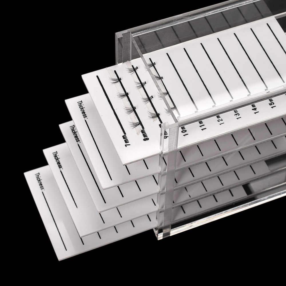 5 طبقات واضح رمش صندوق تخزين ماكياج المنظم الرموش الصناعية الغراء البليت أصحاب تطعيم الرموش تمديد أداة