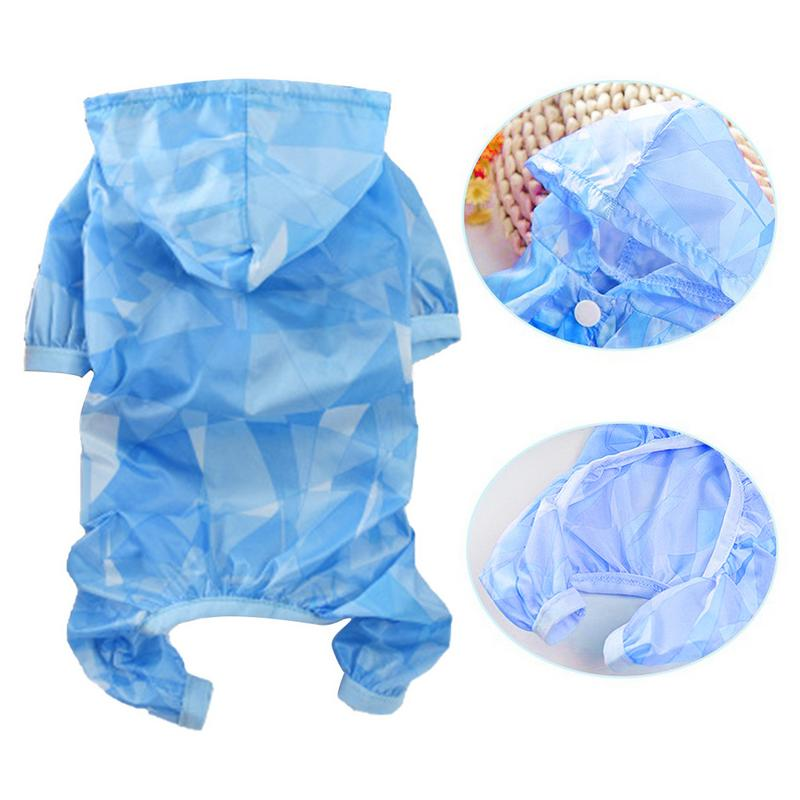 Dog Raincoat Waterproof Sun Protection Clothing Summer New Thin Four Feet Raincoat Teddy Pet Dog Clothes For Small Dogs Puppies in Dog Raincoats from Home Garden