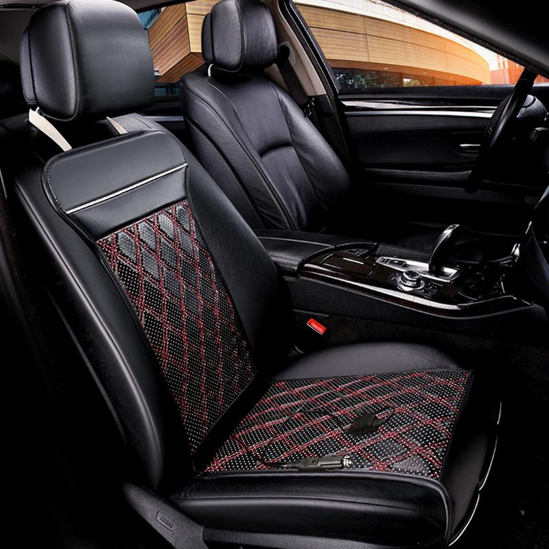 Car Heated Seat Covers Rhombic Pattern Auto 12V Heating Heater Cushion Winter Seat Covers Universal Cotton Fireproof Seat Pad