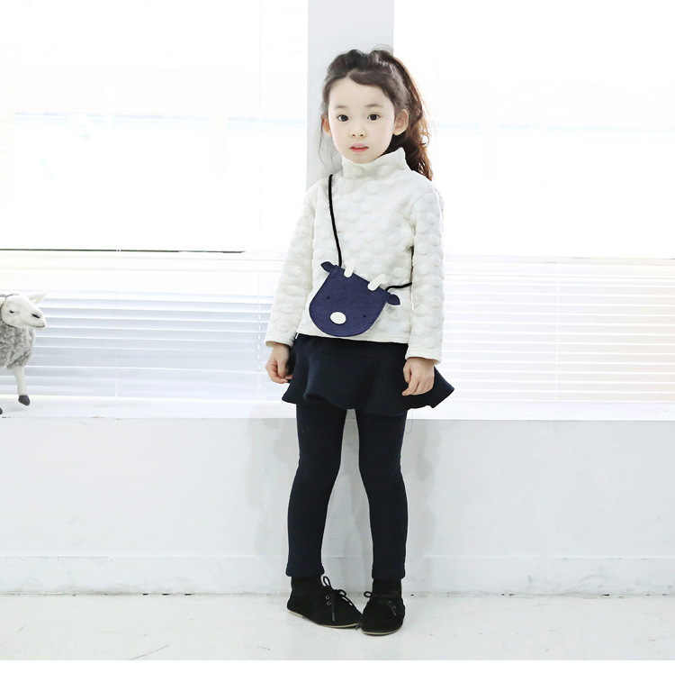 2019 Pure Color Girls Pants Kids Leggings 2-10Y Children Clothing Autumn Cotton Leggings Warm Baby Girl Skirt-pants High Quality