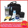 Für FC-6S Faser Ftth Tool Kit Faser mit AUA-60S Faser Cleaver Optische Power Meter3-5KM Visuelle Finder Locator Draht strippr