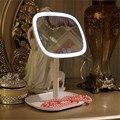 47 Led Eitelkeit Lichter 360 Rotierenden Desktop Spiegel Touchscreen Make-Up Professionelle Eitelkeit Spiegel Schönheit Einstellbare Arbeitsplatte