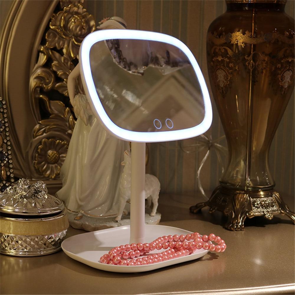 47 Led Vanity Lights 360 Rotating Desktop Mirror Touch Screen Makeup Professional Vanity Mirror Beauty Adjustable Countertop