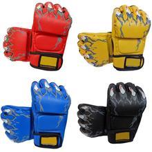 Новое поступление полурукавицы боксёрские перчатки для спарринга кик UFC перчатки для бокса обучение ММА бокса Набор с песком перчатки