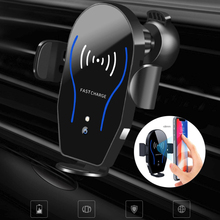 X8 Wireless Car Charger Phone Holder Infrared Intelligent Sensor Bracket 10W Fast For IPhone Sumsung Huwai