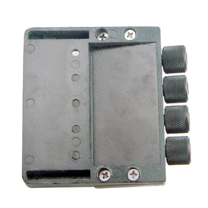 Image 4 - Black 4 String Bass Tailpiece Bridge System Saddle Headless Electric Bass Parts Accessory