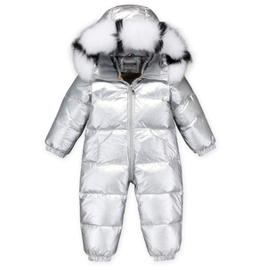 Image 4 -  30 Russian Winter Snowsuit 2020 Boy Baby Jacket 90% Duck Down Outdoor Infant Clothes Girls Climbing For Boys Kids Jumpsuit 2~5y