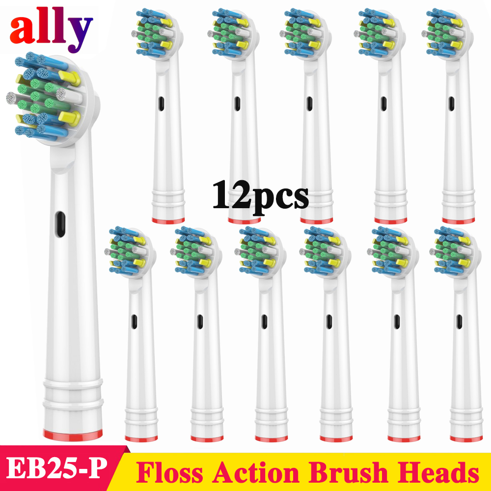 12X EB25 Floss Action Electric toothbrush heads Replacement For Oral B Vitality Triumph iBrush 5000 9000 Electric toothbrush image