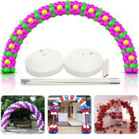 1Set Large Balloon Arch Column Stand Frame Base Kit for Wedding Birthday Party DIY Decoration